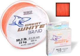 Šňůra Zebco Great White™ Braid ORANGE